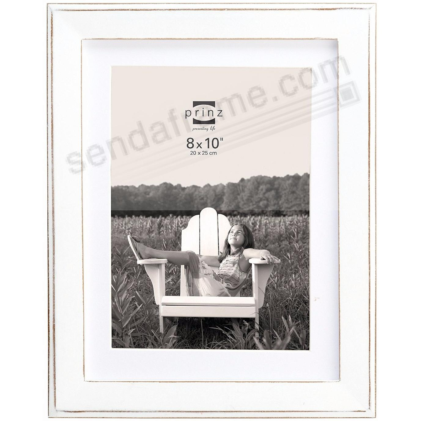 BURLINGTON White 8x10 Frame with Sanded Edges + Mat by Prinz ...