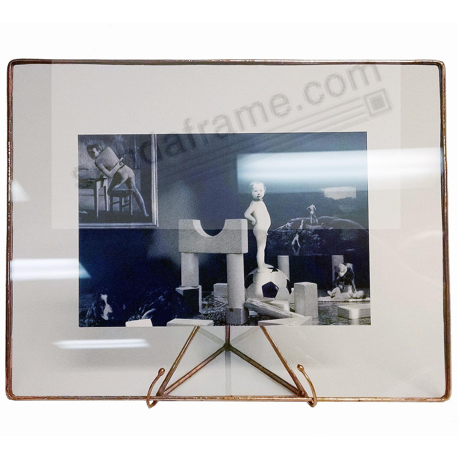 COPPER / CLEAR GLASS Float 7x9/5x7 Frame by Bedford Downing®