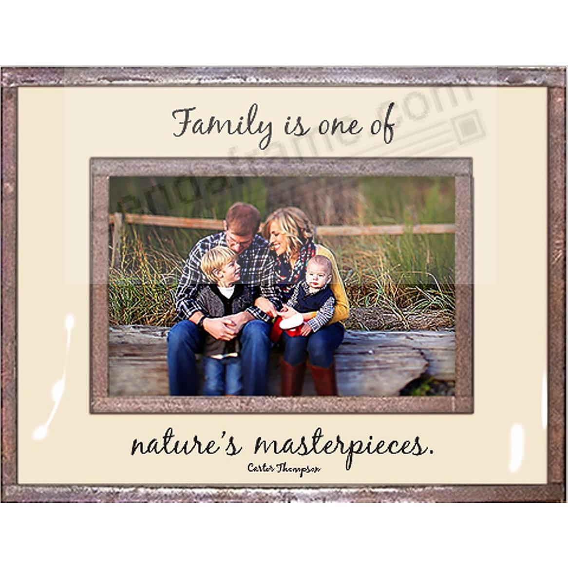 FAMILY IS ONE OF NATURE'S MASTERPIECES Copper + Clear Glass by Ben's Garden®
