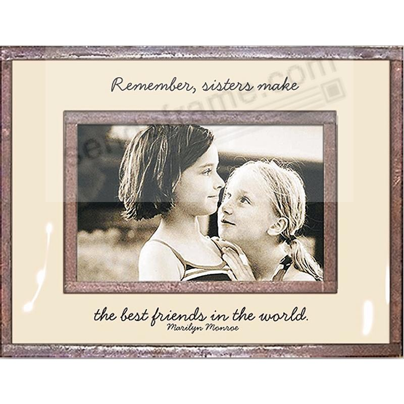 SISTERS MAKE THE BEST FRIENDS Copper + Clear Glass by Ben\'s Garden ...