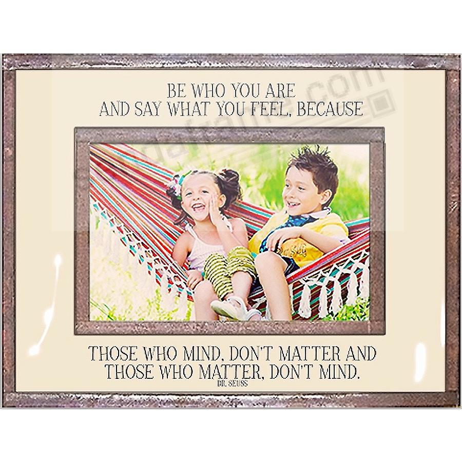BE WHO YOU ARE Copper + Clear Glass 6x4 Frame by Ben's Garden®