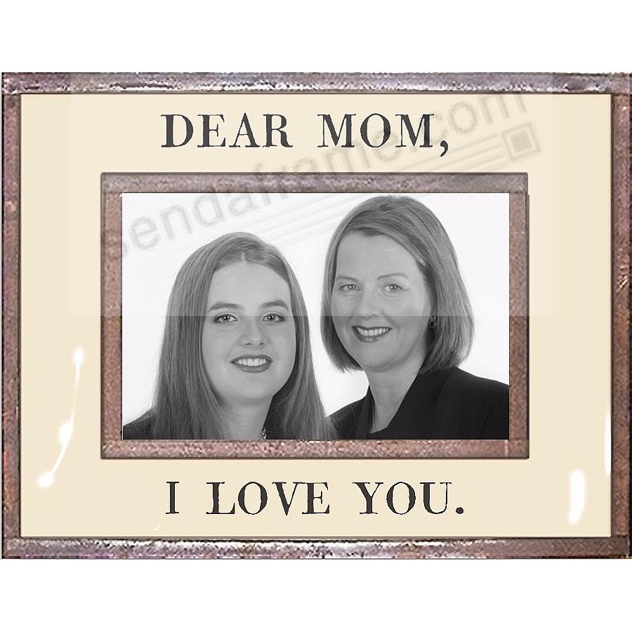 DEAR MOM - I LOVE YOU Copper + Clear Glass by Ben\'s Garden ...