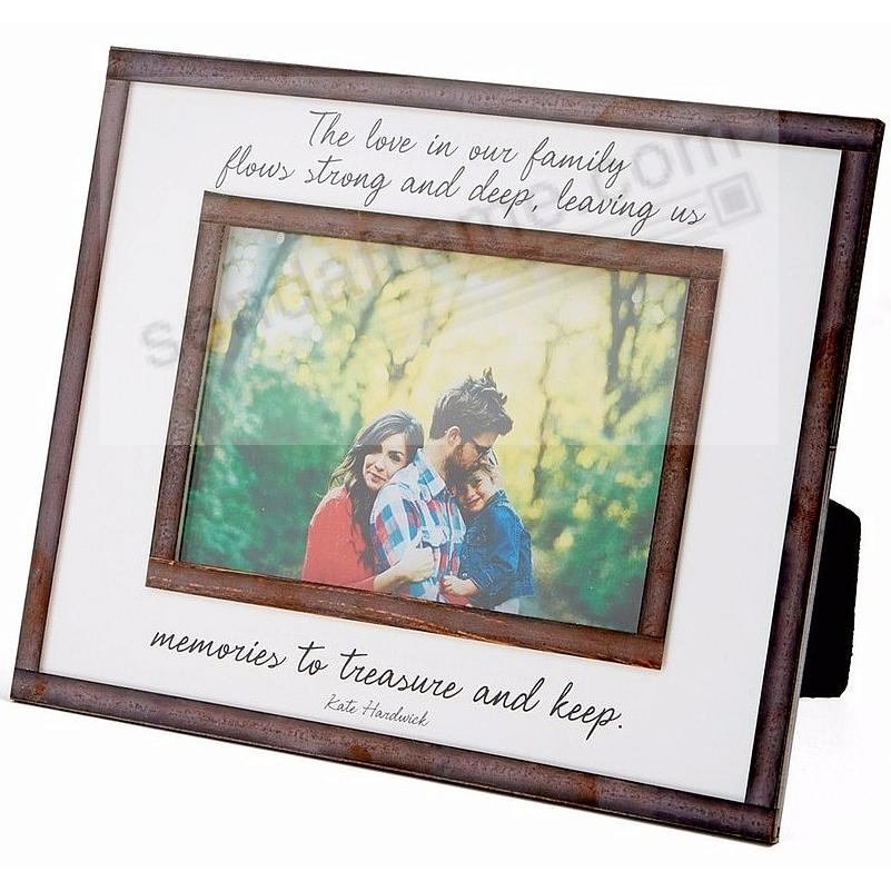 THE LOVE IN OUR FAMILY... Copper + Clear Glass by Ben's Garden®