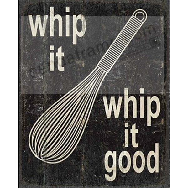 Whip It Whip It Good Distressed Wood Box 10x12 Sign By Sixtrees