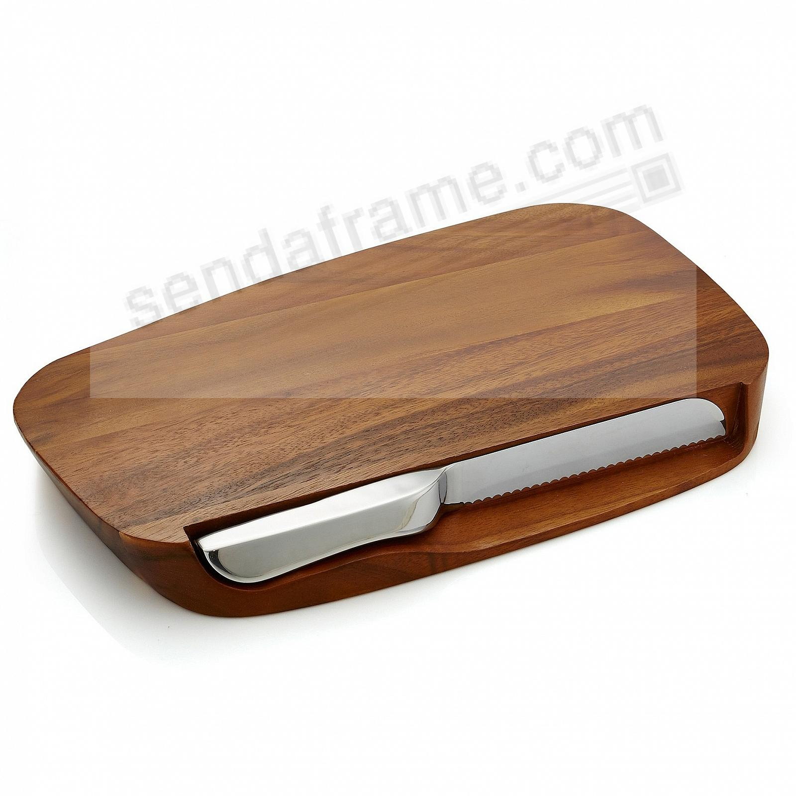 The BLEND BREAD 17½inch BOARD w/KNIFE by Nambe®