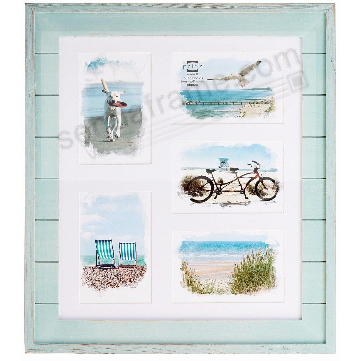 SEASIDE Aquamarine-stain wood 5/4x6 collage frame by Prinz - Picture ...