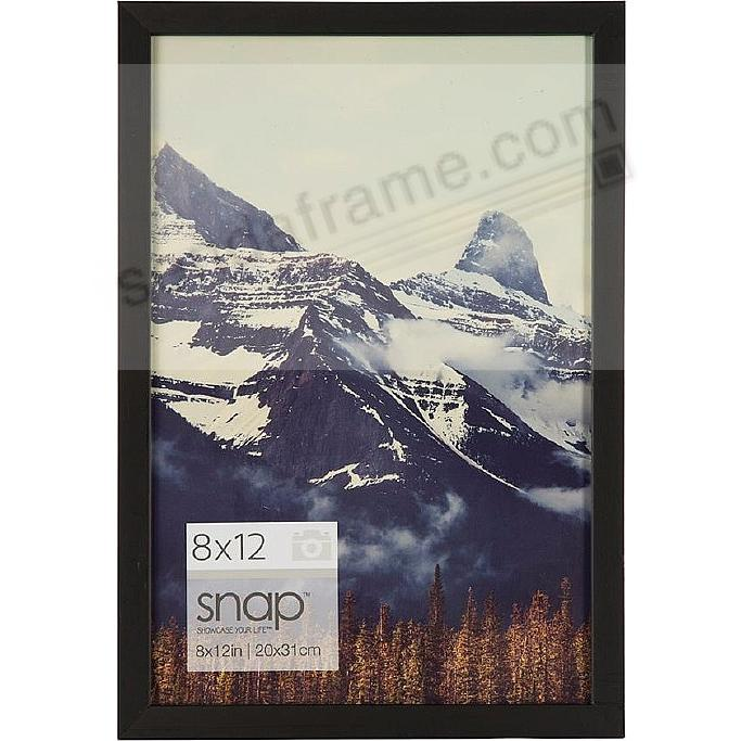 BLACK Wood Frame 8x12 by SNAP™