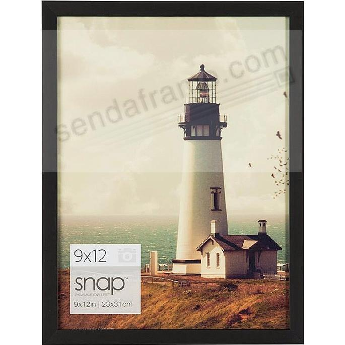 BLACK Wood Frame 9x12 by SNAP™