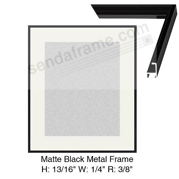 Custom-Cut™ Matte-Black Metallic Wall frame H:13/16 W:9/32 R:13/32