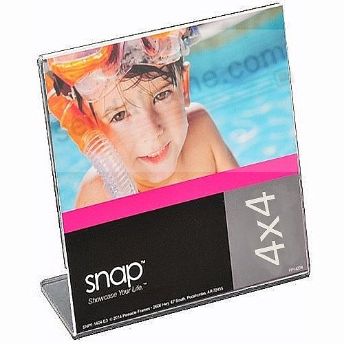 Ultra-clear acrylic bent 'L' lip tabletop 4x4 frame by SNAP®