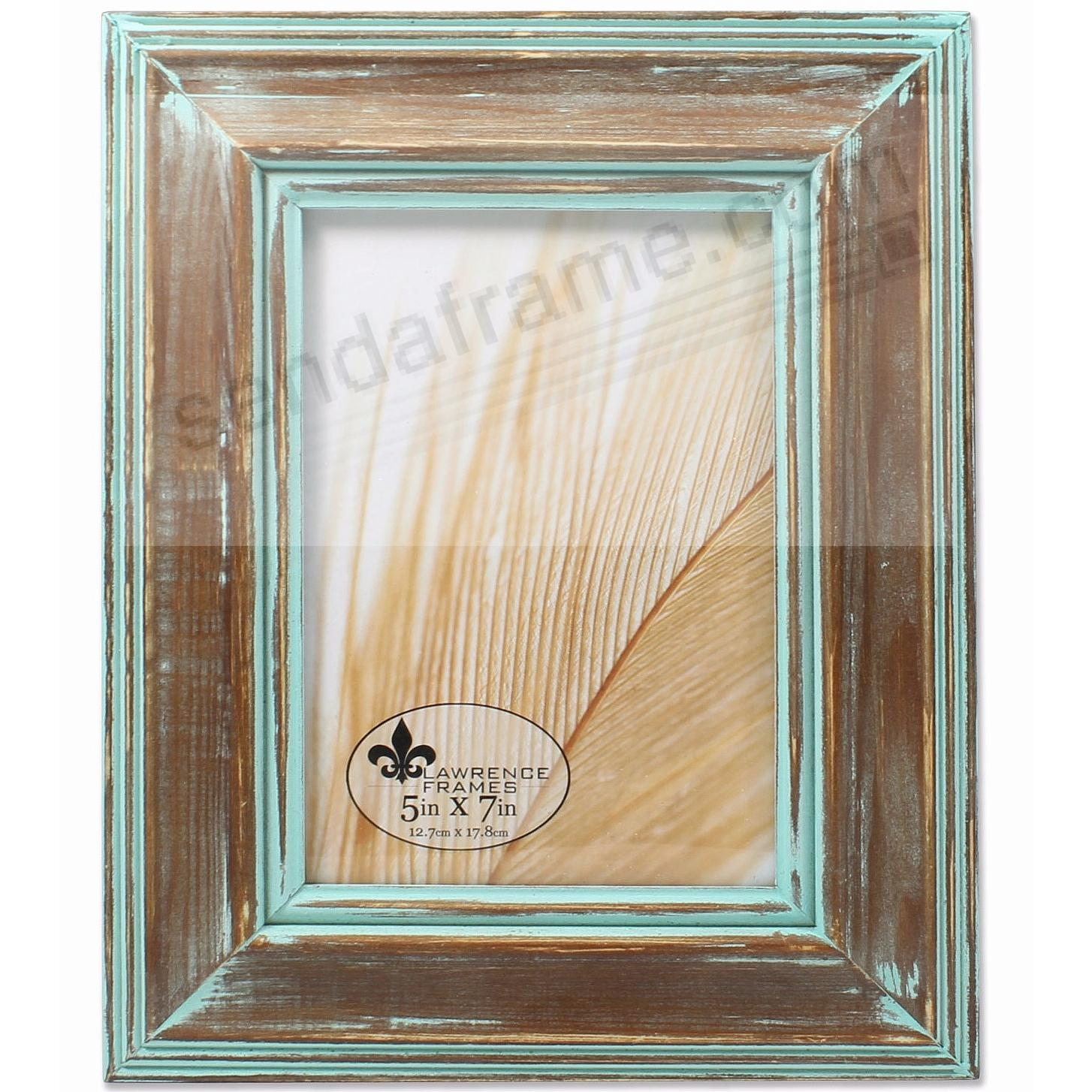 Weathered Wood with VERDIGRIS PATINA WASH 5x7 frame by Lawrence®