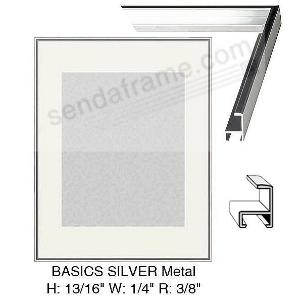 Custom-Cut™ BASICS Silver Metallic poster H:13/16 W:9/32 R:13/32