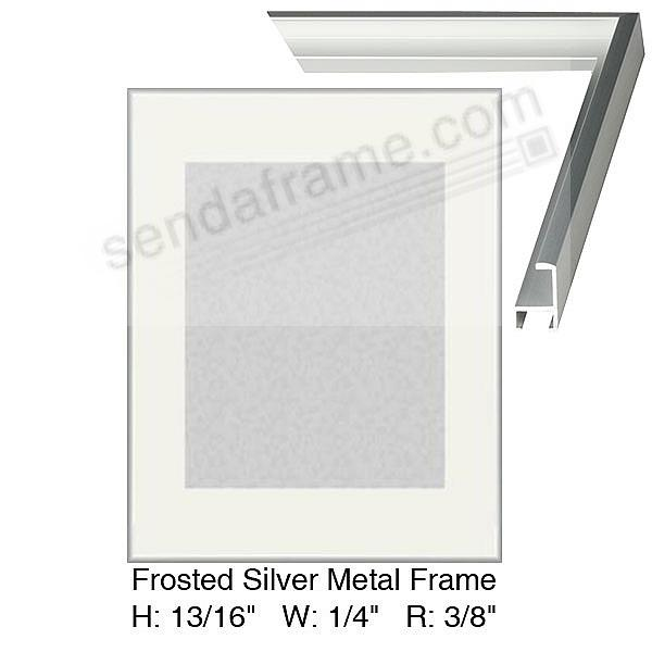 Custom-Cut™ frosted silver poster H:13/16 W:9/32 R:13/32