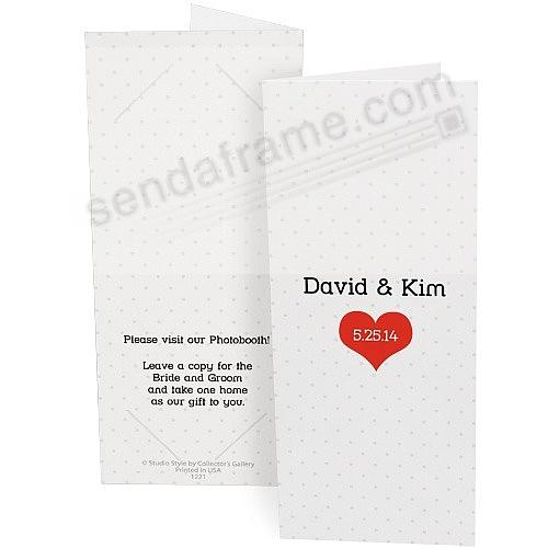 MODERN HEART Personalized Photo Strip holders for 2x6 Photobooth ...