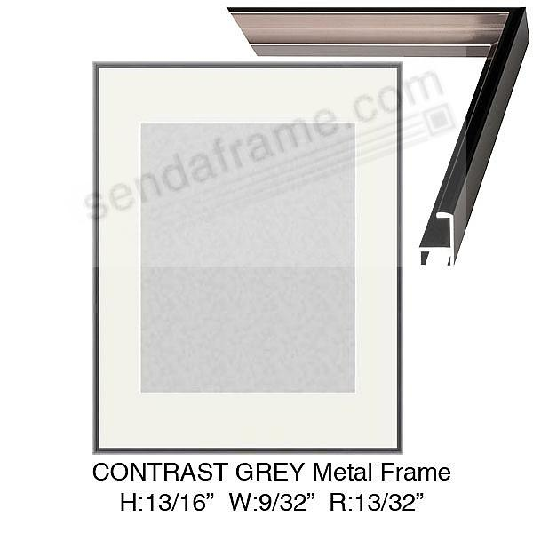 Custom-Cut™ Contrast grey metallic poster H:13/16 W:9/32 R:13/32
