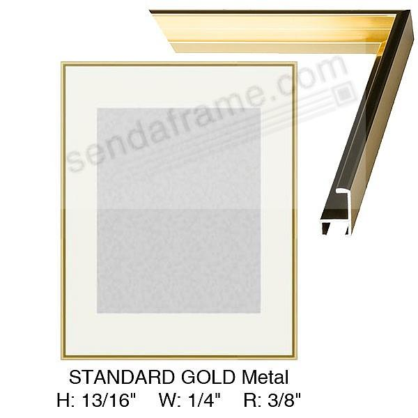 Custom-Cut™ Metallic Gold Poster H:13/16 W:9/32 R:13/32