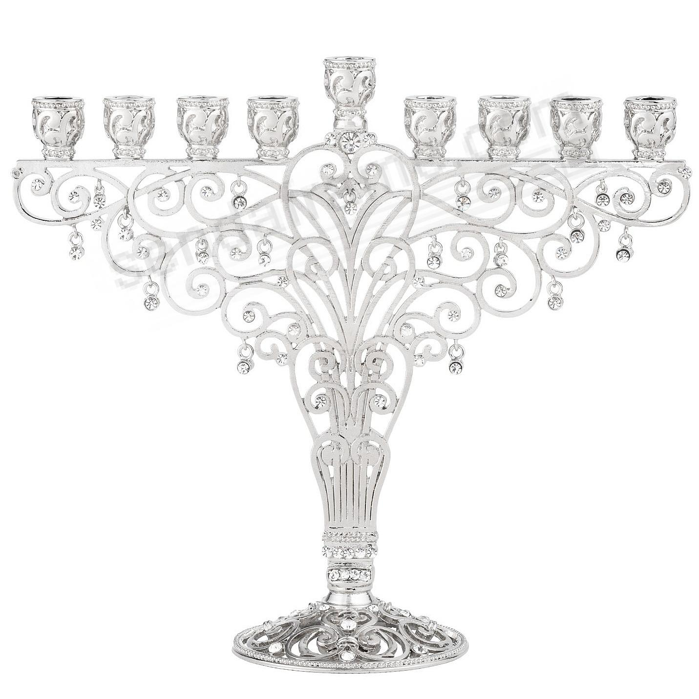 Crystal menorah by olivia riegel picture frames photo albums crystal menorah by olivia riegel jeuxipadfo Images
