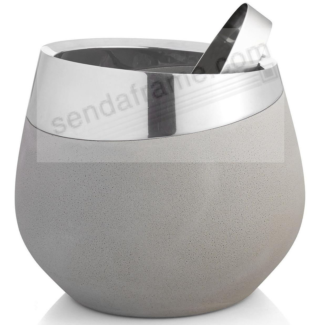 The Original FORTE ICE BUCKET w/Tongs crafted by Nambe®