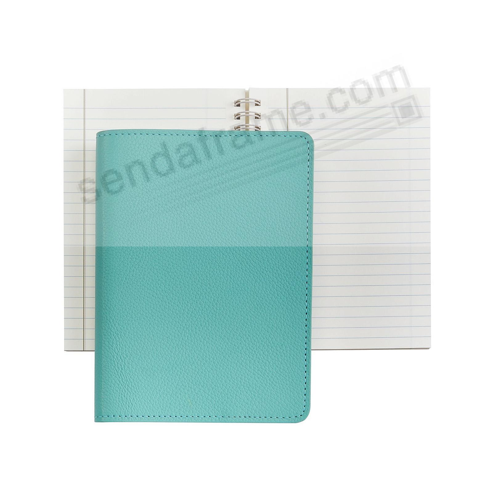 Wire-O-Notebook 7in Robins-Egg-Blue Fine Leather by Graphic Image™