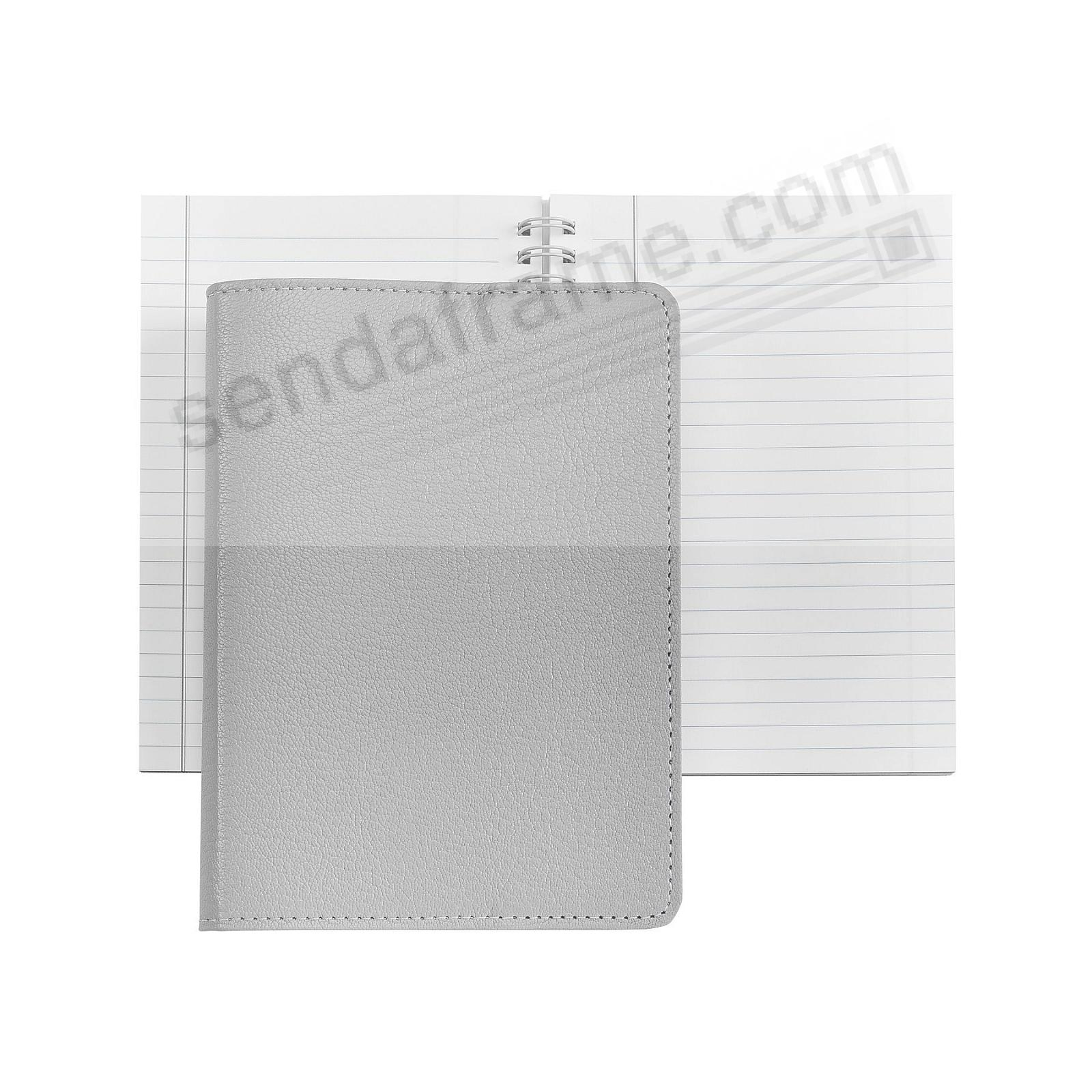 Wire-O-Notebook 7in GREY Fine Leather by Graphic Image™