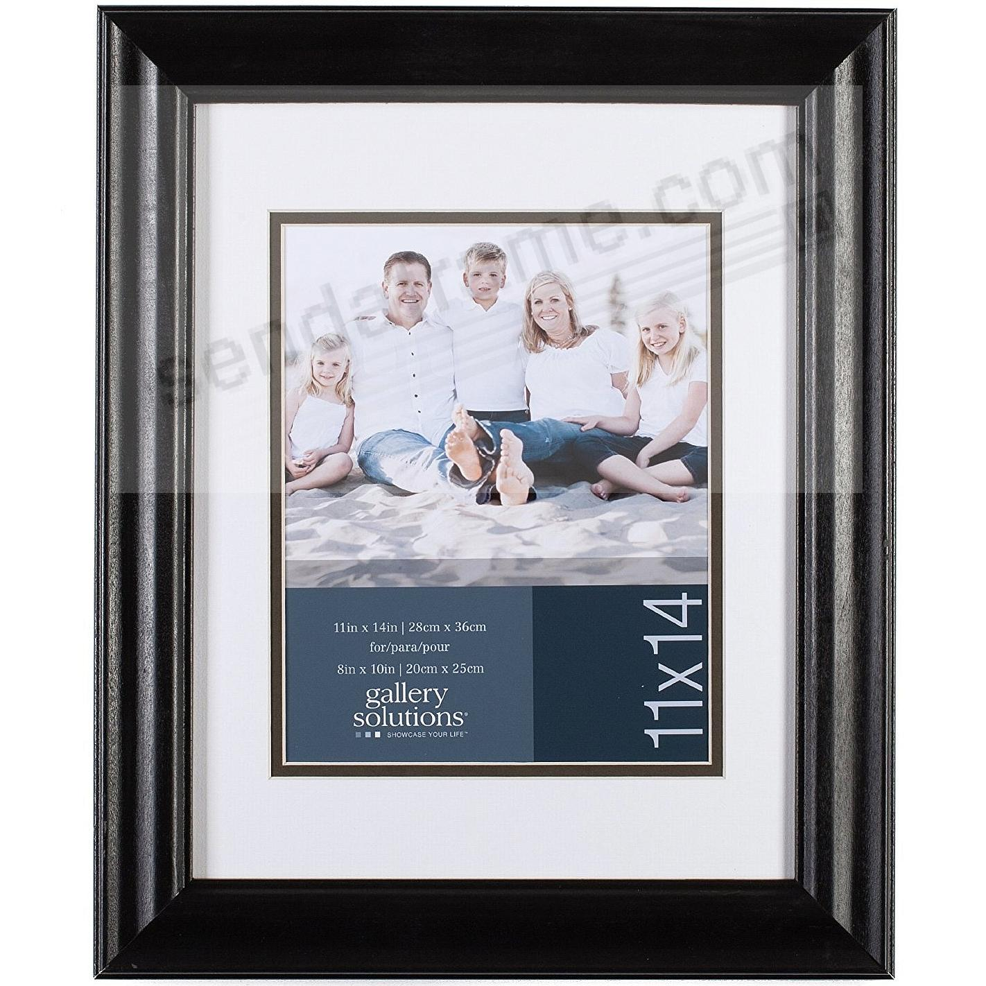 SATIN BLACK 11x14/8x10 frame by Gallery Solutions®