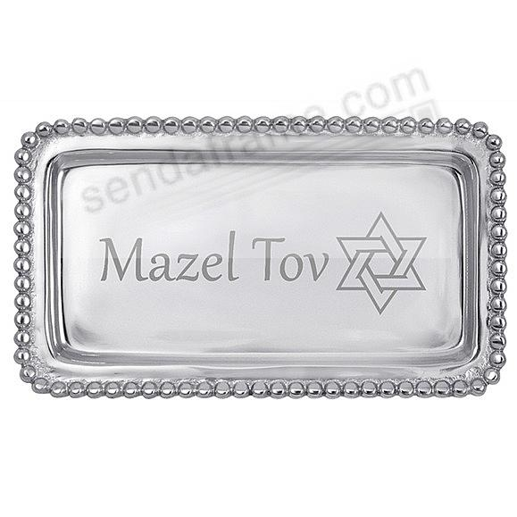 The original MAZEL TOV STATEMENT TRAY crafted by Mariposa®