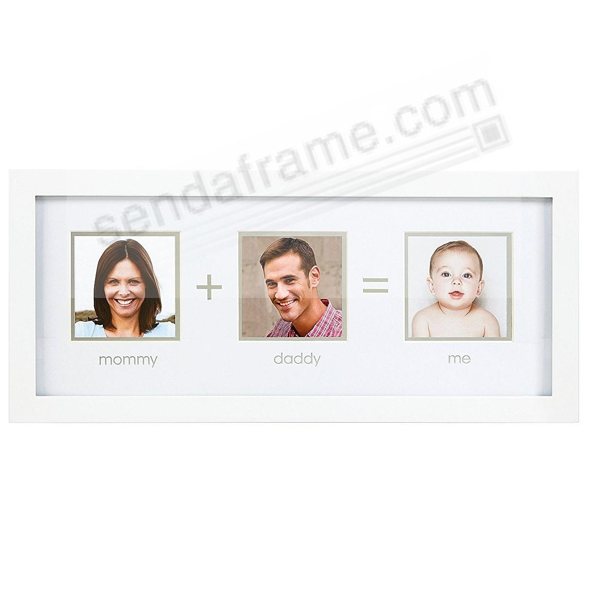 MOMMY+DADDY=ME White trio wall collage frame by Pearhead - Picture ...