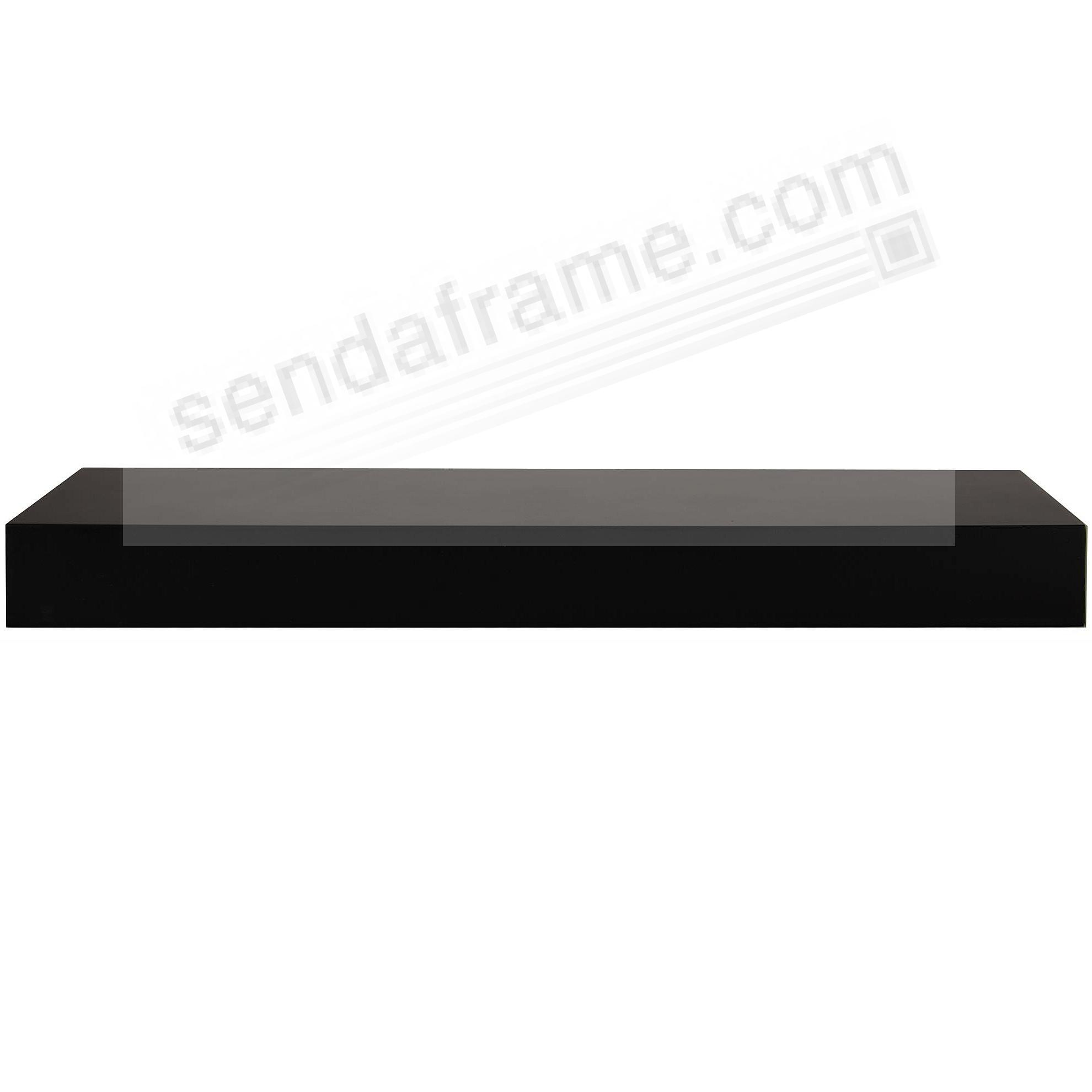 PLANK LEDGE 24in Black by Gallery Solutions