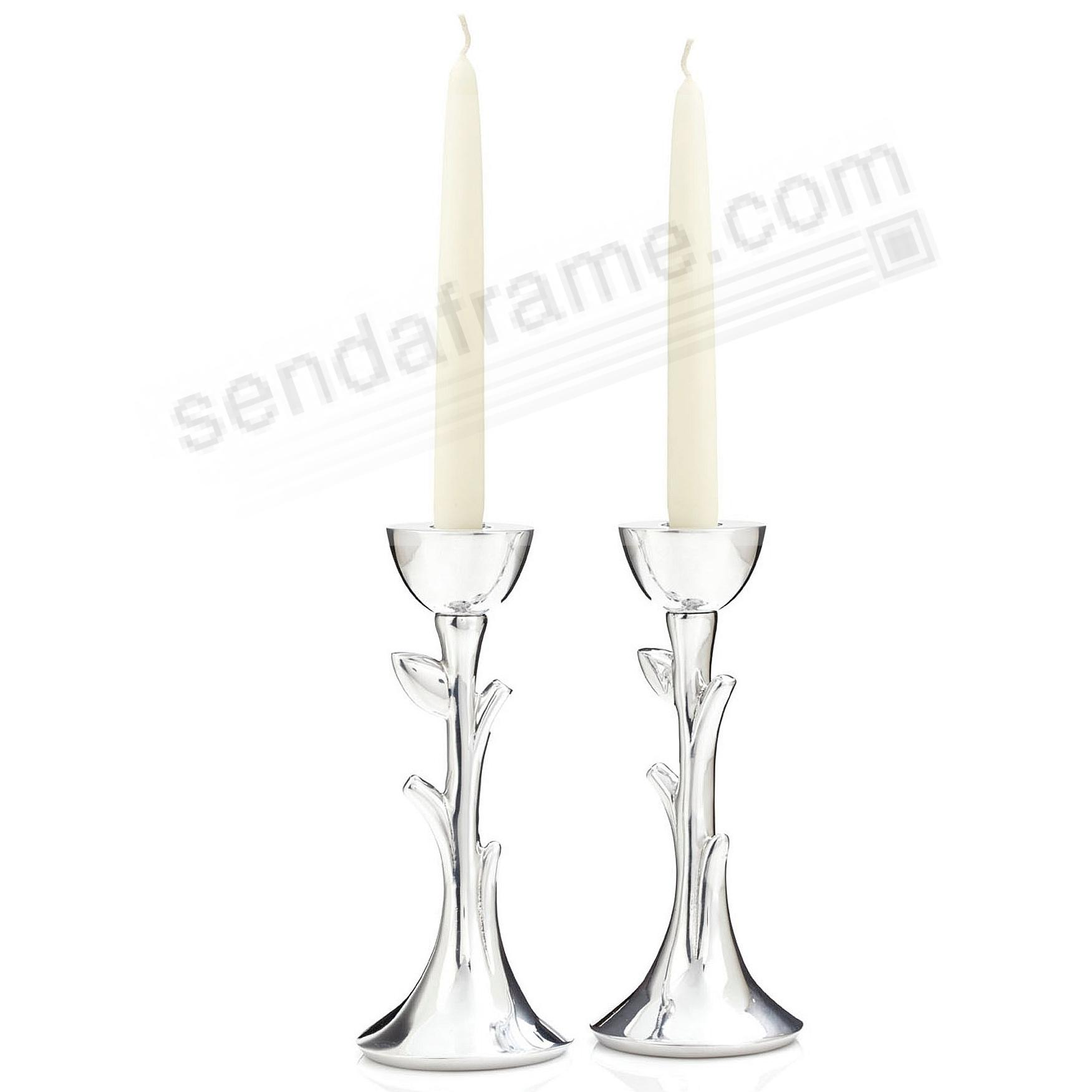 The Original TREE OF LIFE SABBATH CANDLESTICKS (PAIR) crafted by Nambe®
