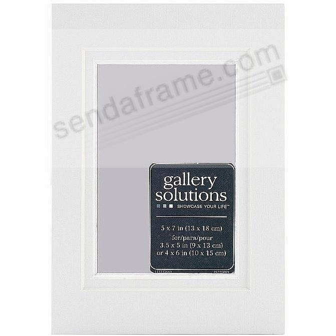 WHITE/White Double-Bevel Pro Mat Board 5x7/3½x5 by Gallery Solutions ...