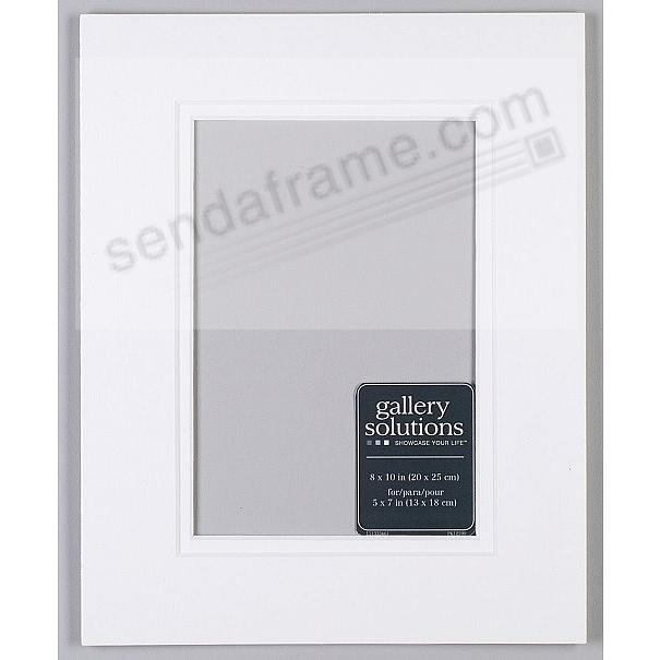 WHITE/White Double-Bevel Pro Mat Board 8x10/5x7 by Gallery Solutions ...