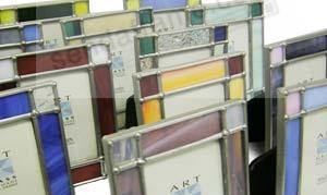 Art deco stained glass minis for special affairs