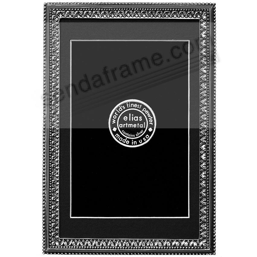BEADED ACANTHUS fine Silvered Pewter 8x10/7x9 frame by Elias Artmetal®