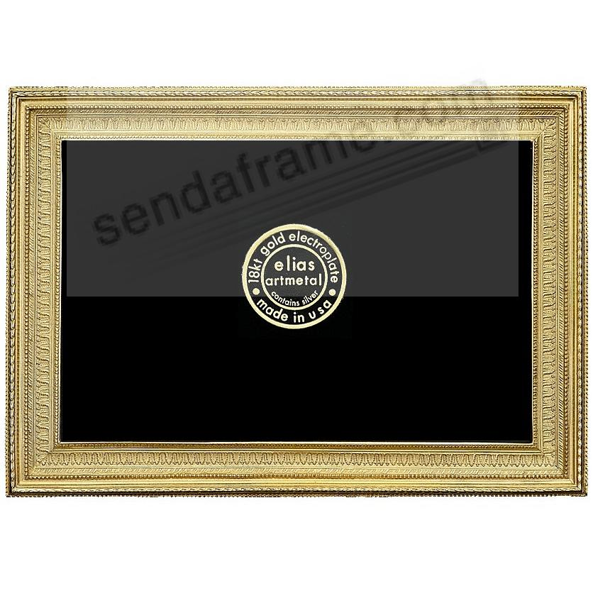 MUSEUM GALLERY 18kt Gold Vermeil over Fine Pewter 3x4 frame by Elias Artmetal®