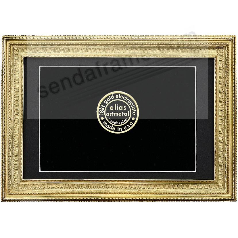 MUSEUM GALLERY 18kt Gold Vermeil over Fine Pewter 8x10/7x9 frame by Elias Artmetal®
