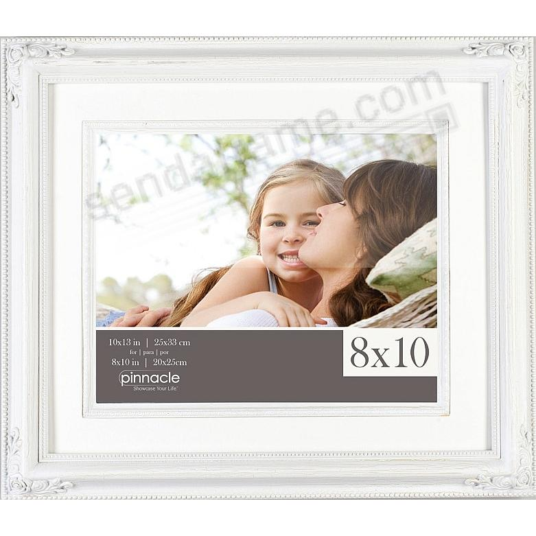 distressed white rose frame wfillet mat 11x138x10 by pinnacle