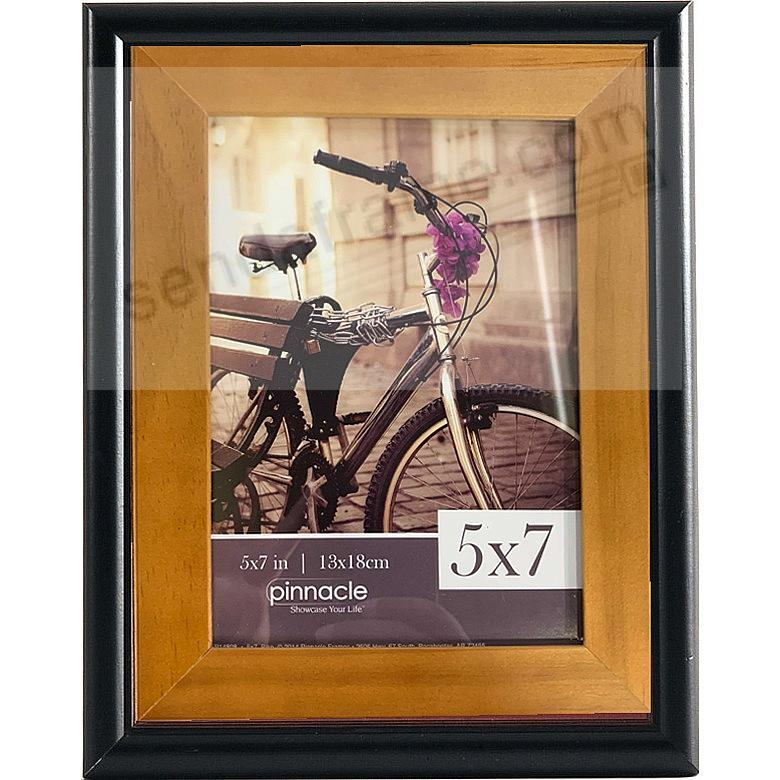 BLACK w/INNER Walnut Accent 5x7 frame by Pinnacle™ - Picture Frames ...