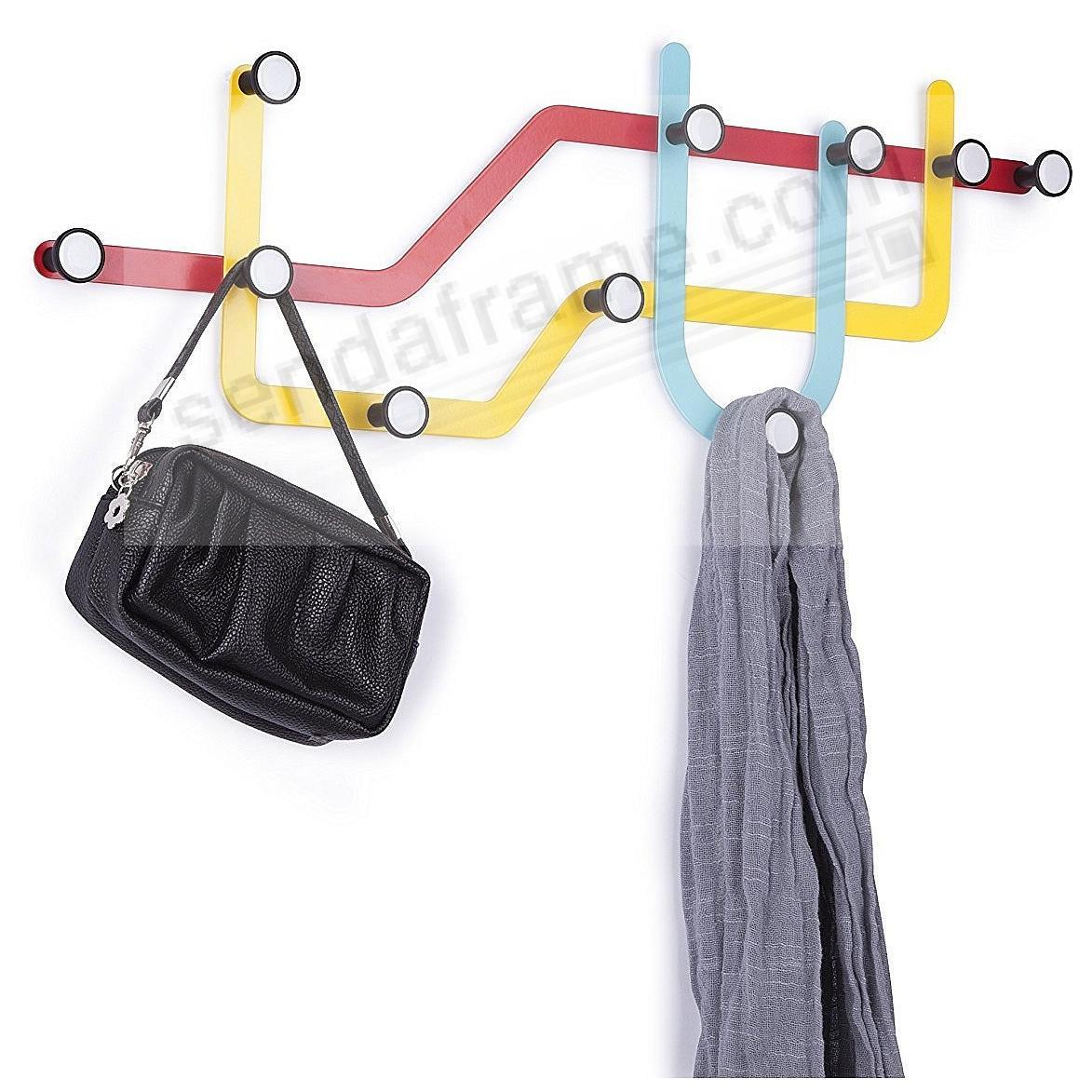 The Original SUBWAY MULTICOLORED Wall Hook by Umbra®