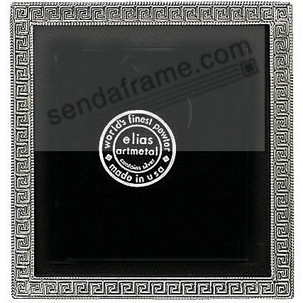 GREEK KEY Fine Pewter 3x3 frame by Elias Artmetal®