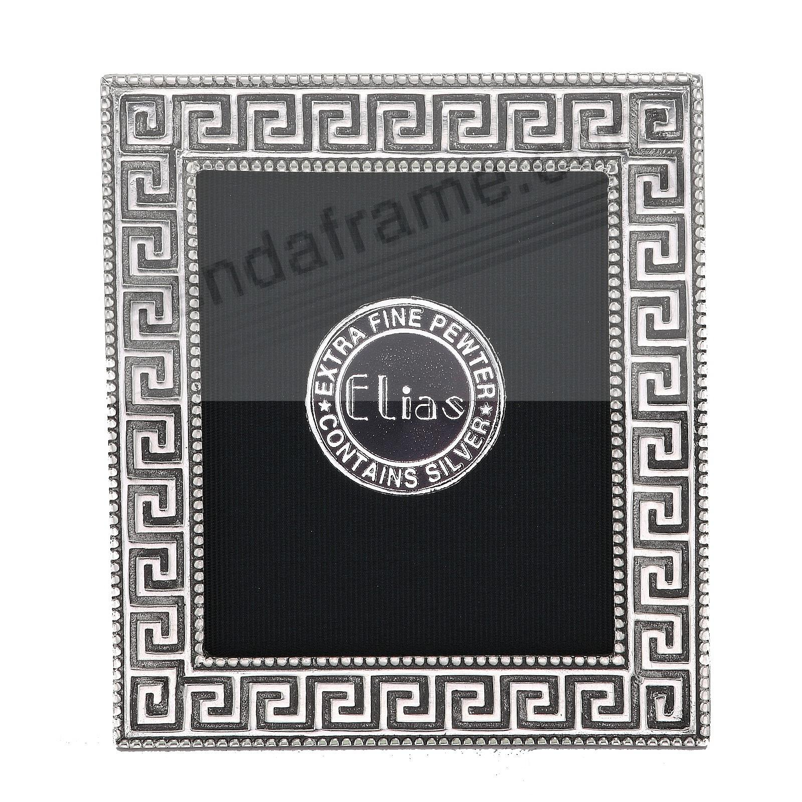 GREEK KEY Fine Pewter Mini 1-3/4x2-1/8 frame by Elias Artmetal®