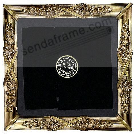LOUIS XIV 18kt Museum Gold over Fine Pewter 8x8/7x7 frame by Elias Artmetal®