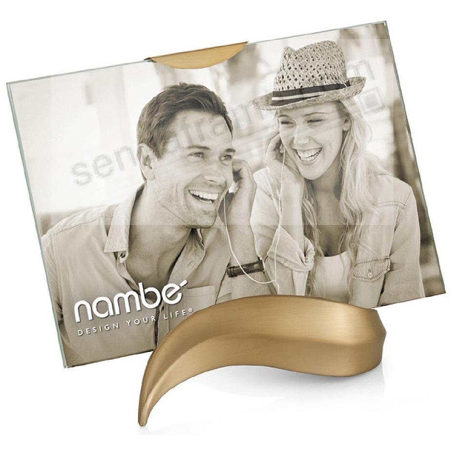 ECO Champagne-Gold modern design 4x6 frame by Nambe'®