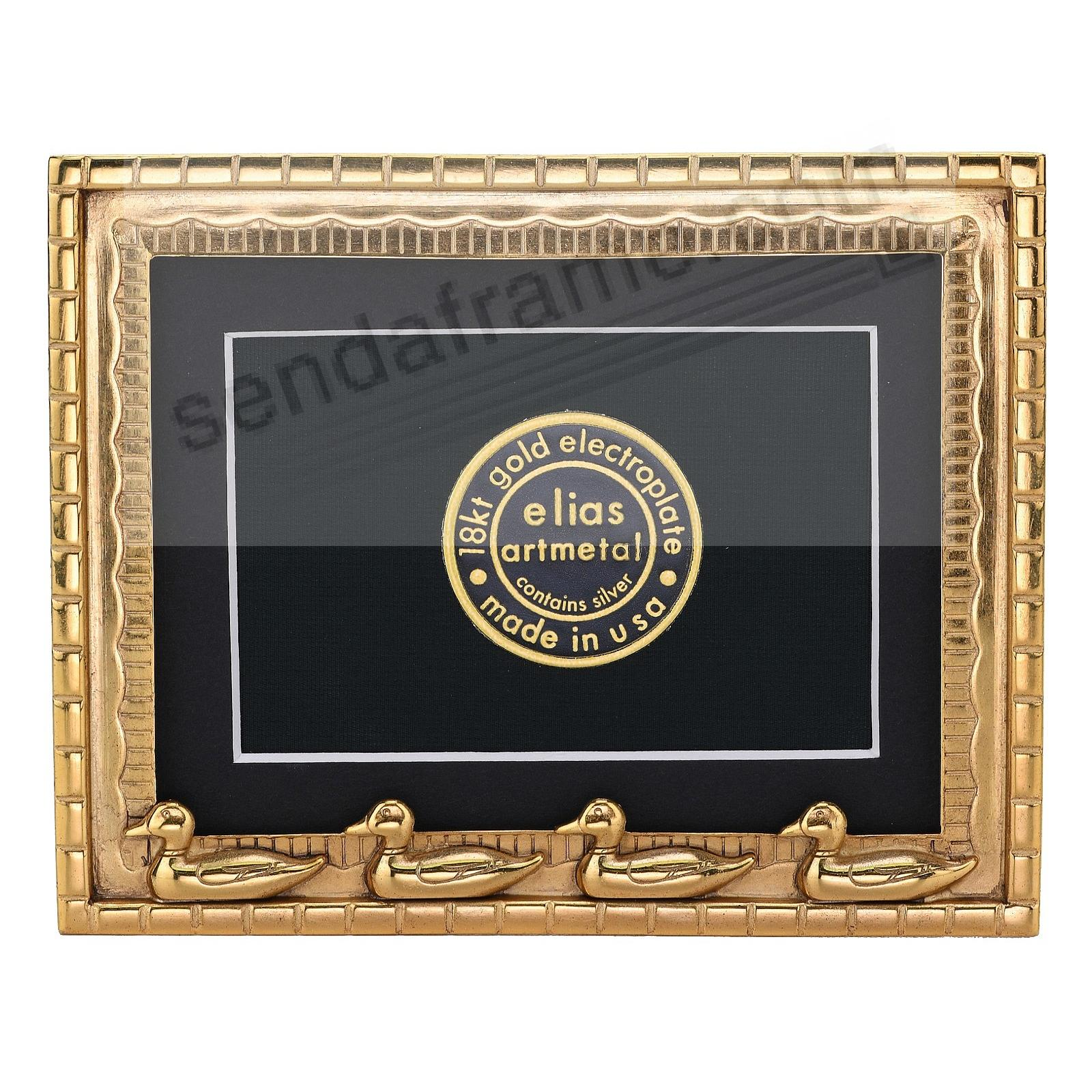 DUCKLING DYNASTY 18kt Gold Vermeil Over Fine Pewter 3x4 frame by Elias Artmetal®