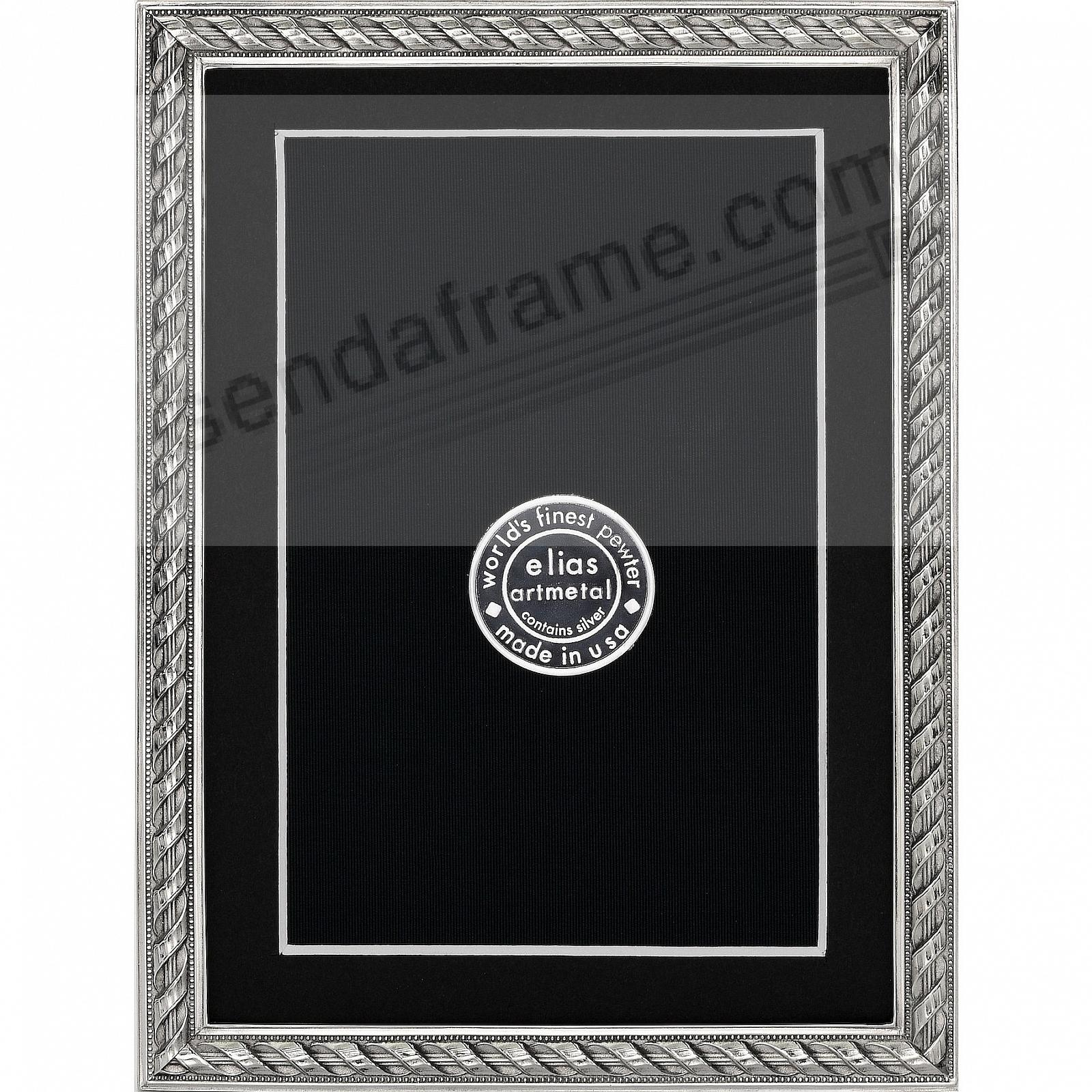 RENAISSANCE ROPE fine silvered pewter 5x7/4x6<br>by Elias Artmetal&reg;