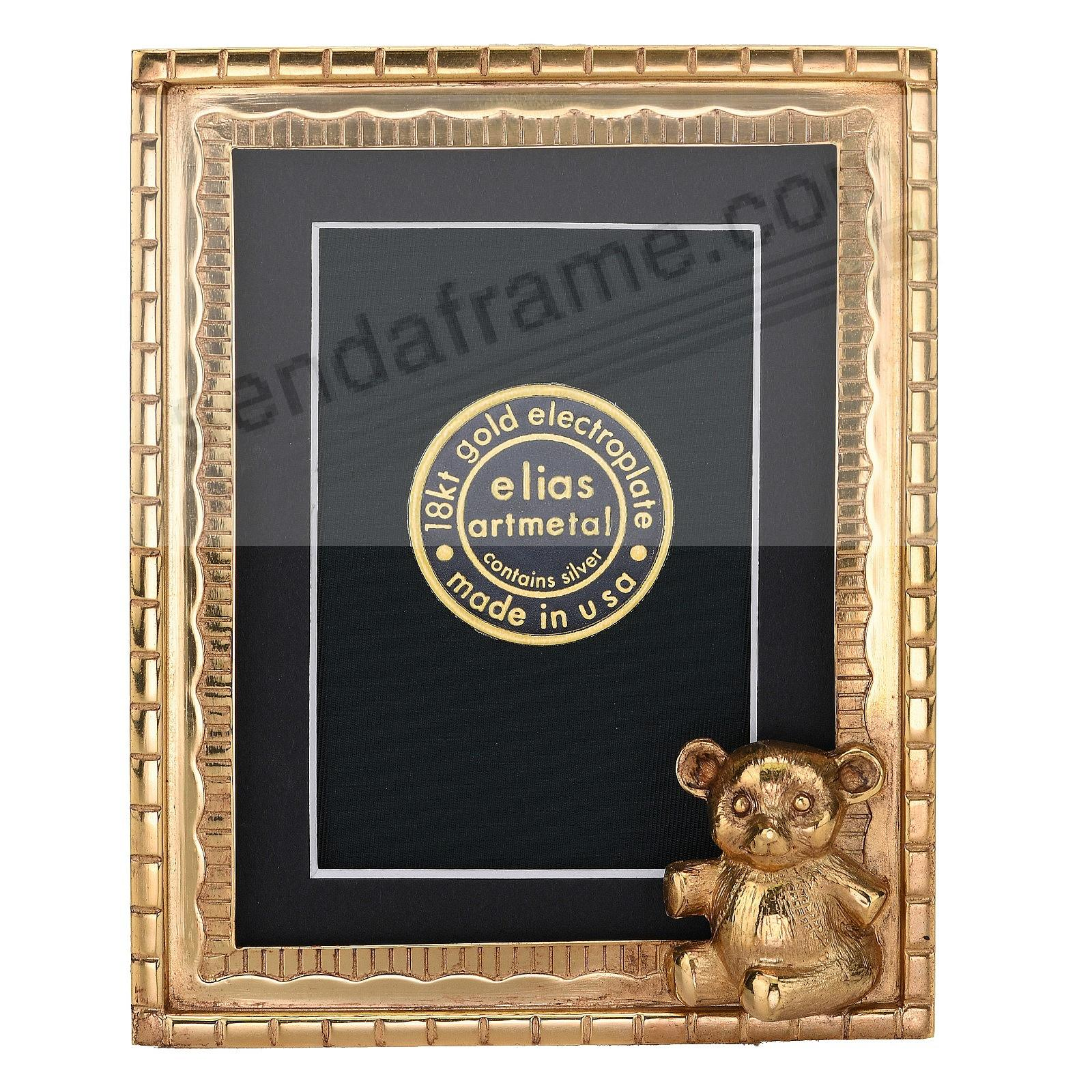 TEDDY BEAR 18kt Gold Vermeil Over Pewter 3x4 frame by Elias Artmetal®