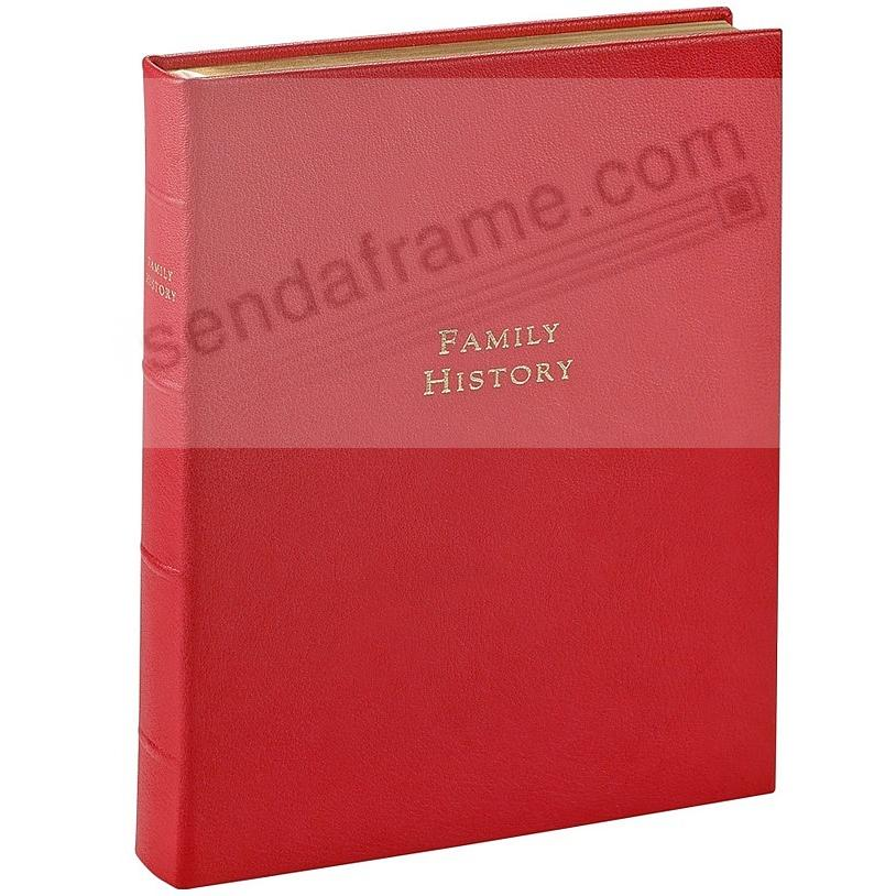 Luxe FAMILY HISTORY Book in Heirloom Fine Leather<br>by Graphic Image&trade;