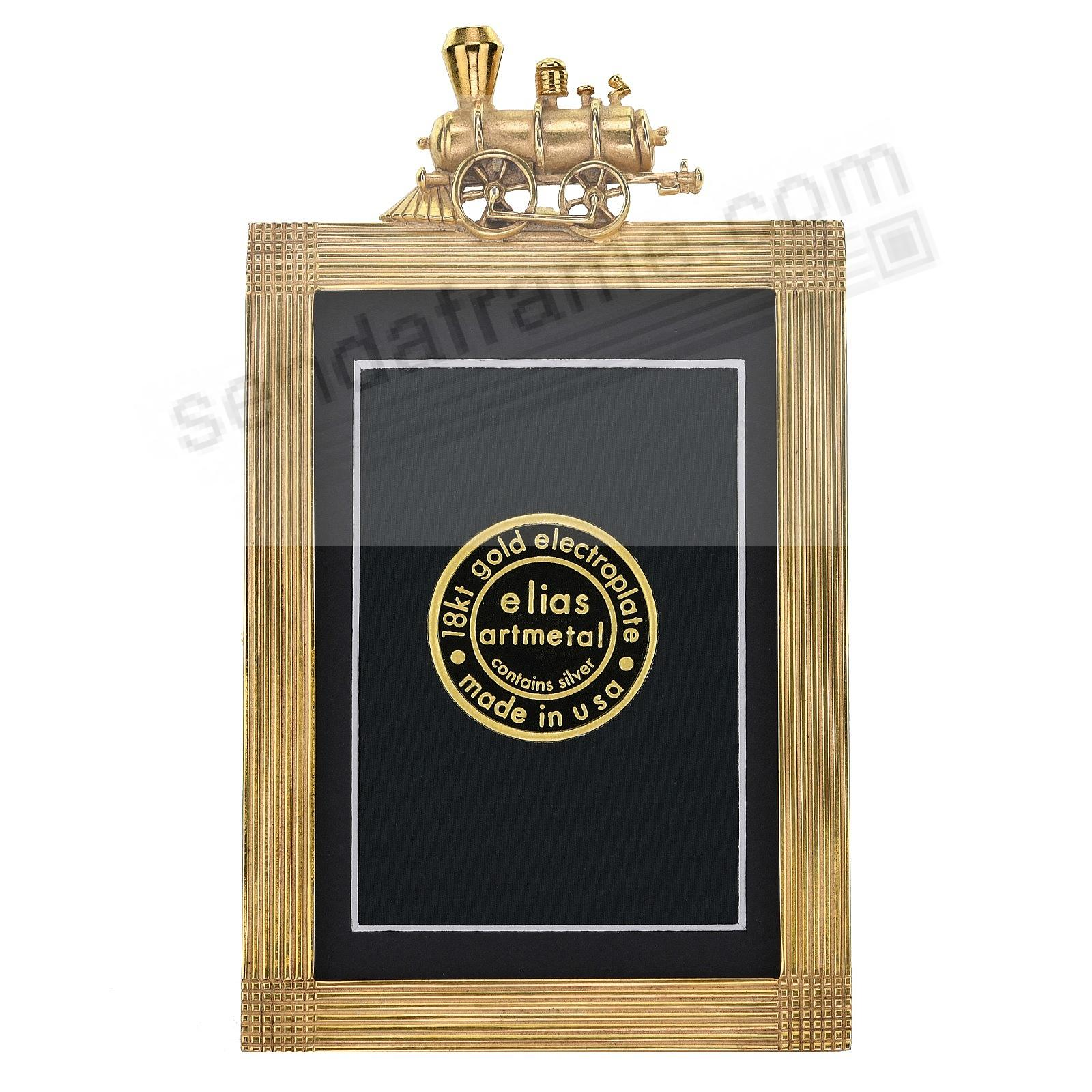 THE LITTLE ENGINE 18kt Gold Vermeil Over Pewter 3x4 frame by Elias Artmetal®
