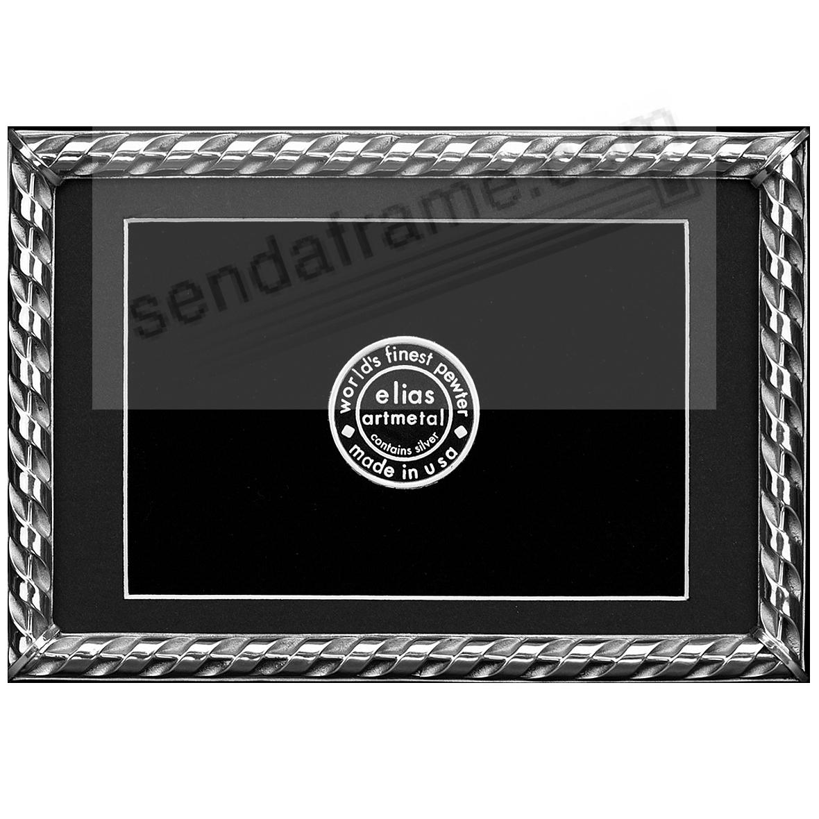 RIBBON Fine Silvered Pewter frame 5x7/4x6 by Elias Artmetal®