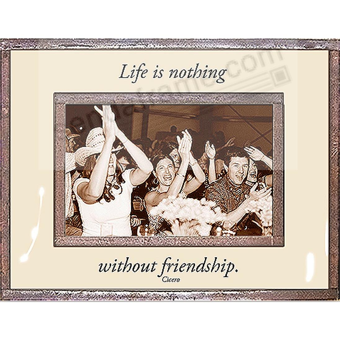 LIFE IS NOTHING WITHOUT FRIENDSHIP Copper + Clear Glass by Ben's Garden®