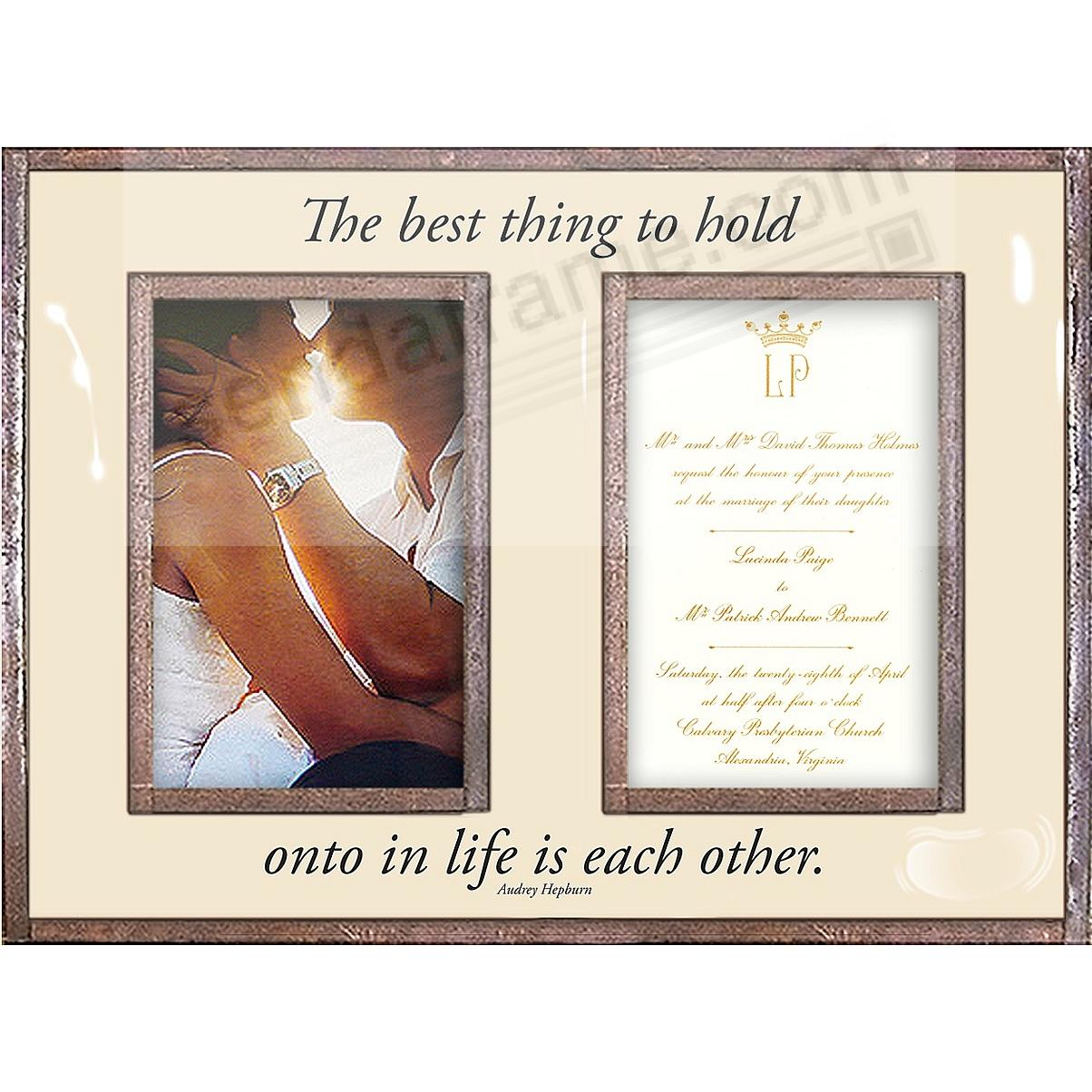 THE BEST THING TO HOLD ONTO ...  Copper + Clear Glass Double Invitation Frame by Ben's Garden®